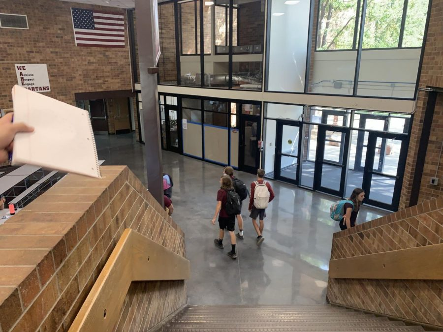 New entrance to the school.