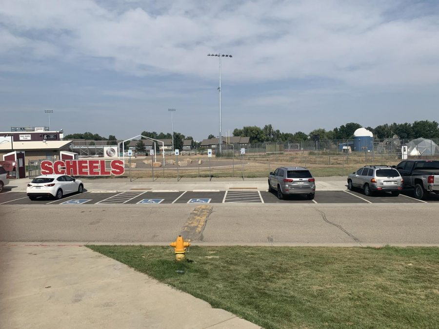 New Parking on the North East side of the school (near football fields)